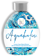 Aquaholic™ Skin Softening, GoldenTa nning Lotion, Coconut Milk & Coconut Oil for Age Defying & Intense Skin Hydration Bathe your skin in streak-free, stain-free ultra-moisturizing DHA free bronzers. This extra hydrating formula will drench the skin in coconut juice, coconut water and coconut oils for longer lasting, super soft results. Added quad acceleration blend will super surge your tan for a dive into deeper, dark sun kissed results.