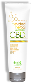 Devoted Herbal CBD Moisturizer™ Micro Infused with Essential Oils and Extracts for maximum hydration and absorption Formulated for daily use, Added Citrus and Mint extract make this unique lotion your best bud for anytime your skin needs maximum hydration. Natural oils and extracts, combined with calming