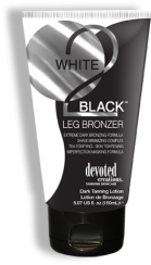 W2B: Leg Bronzer™ Tea-Toxifying, Skin Tightening, Imperfection Masking Formula Formulated with more accelerators, darker DHA and natural bronzers will allow you will go 3 shades darker – instantly! Added hair re-growth inhibitors keep stubble away while coffee bean extracts energize skin and mask imperfections. Amazing green and black tea detoxify and reduce red tones in the skin keeping your legs looking flawless.