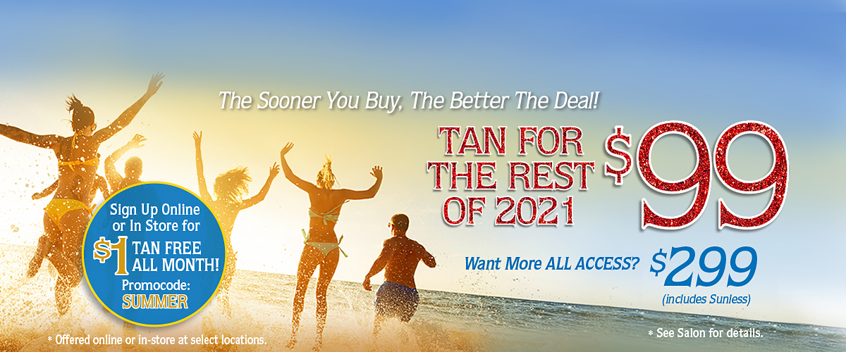 June Special Tan For Rest Of 2021 For $99