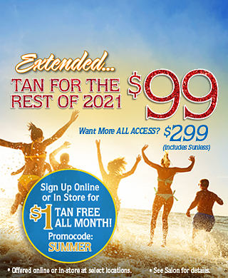 Extended: Tan For The Rest of 2021 For $99