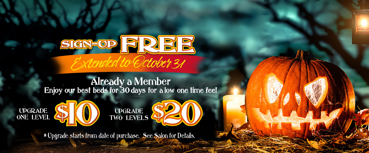 October Membership Specials Available Call For Details